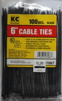 "6"" Black Cable Ties"
