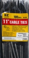 "11"" Black Cable Ties"