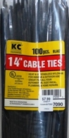 "14"" Black Cable Ties"