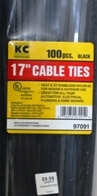 "17"" Black Cable Ties"